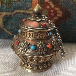 🎁HP🎁 Decorative copper brass incense burner